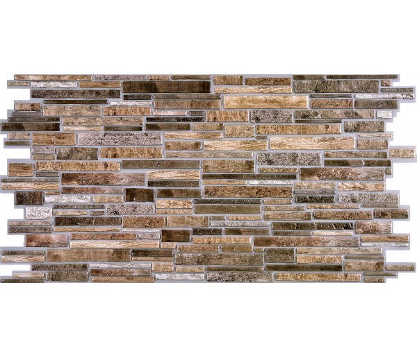 Wall Panels Wall Panels for Interior Wall Decor - Textured PVC 3D Wall Tile (37x18 in, 4.8 sq.ft.) - 001 BF