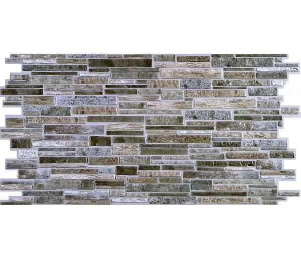 Wall Panels: Wall Panels for Interior Wall Decor - Textured PVC 3D Wall Tile (37x18 in, 4.8 sq.ft.) - 001 GF