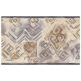 Vintage Wallpaper Borders: Gold Silver Abstract Lines Wallpaper Border 002160 ES