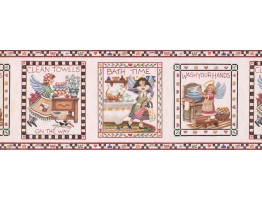 Prepasted Wallpaper Borders - Kitchen Wall Paper Border 005132 RC