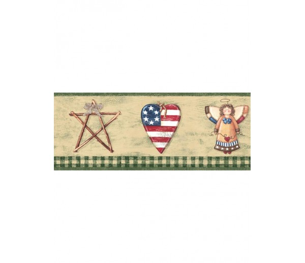 Clearance Faith And Angel Wallpaper Border 006184 BV York Wallcoverings