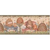 Bird Houses Bird House Wallpaper Border 007115 BP York Wallcoverings