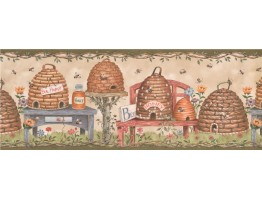 9 1/8 in x 15 ft Prepasted Wallpaper Borders - Bird House Wall Paper Border 007115 BP