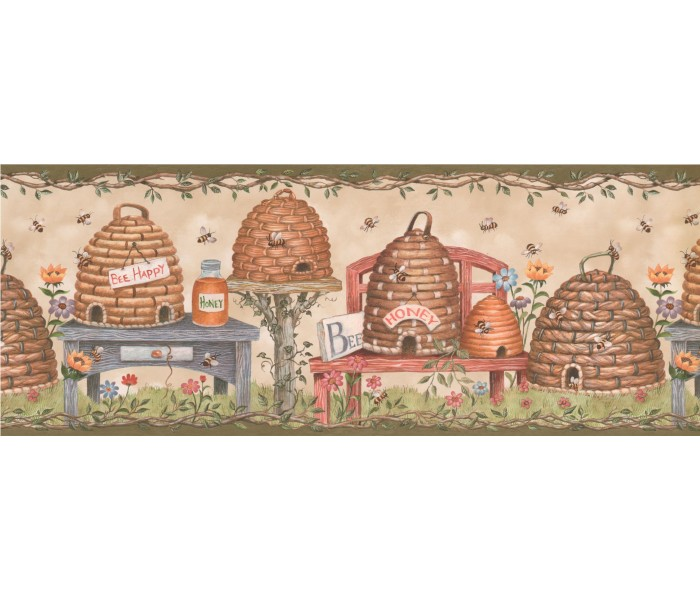 Bird Houses Wallpaper Borders: Bird House Wallpaper Border 007115 BP