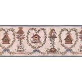 Bird Houses Bird House Wallpaper Border 007123 BP York Wallcoverings