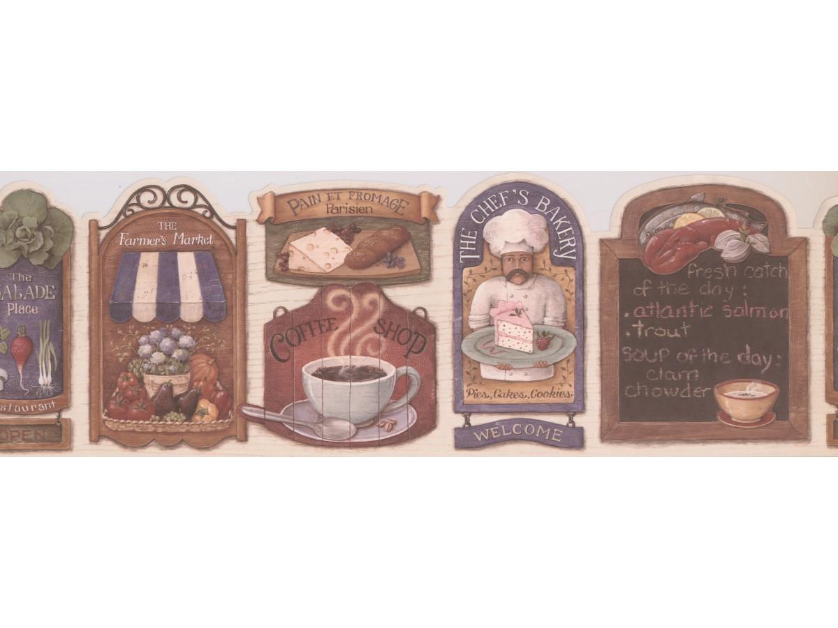 Kitchen Wallpaper Border 008153 Mf