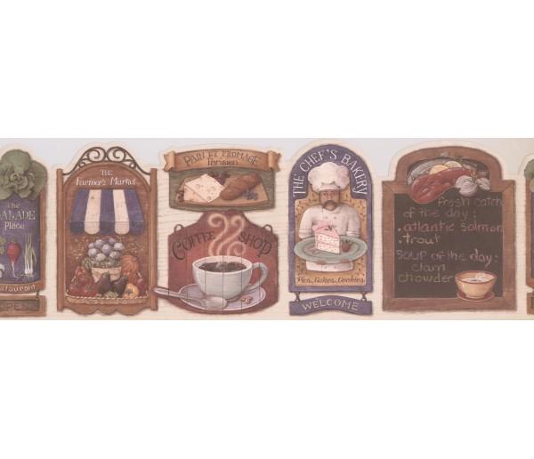 Kitchen Wallpaper Borders: Kitchen Wallpaper Border 008153 MF