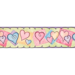 7 in x 15 ft Prepasted Wallpaper Borders - Kids Wall Paper Border 0118 YK