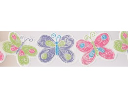Prepasted Wallpaper Borders - Kids Wall Paper Border 0136 YK