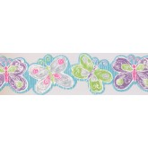 Prepasted Wallpaper Borders - Kids Wall Paper Border 0137 YK