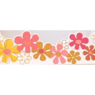 8 3/4 in x 15 ft Prepasted Wallpaper Borders - Kids Wall Paper Border 0145 YK