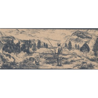 10 1/4 in x 15 ft Prepasted Wallpaper Borders - Country Wall Paper Border 018133 PT