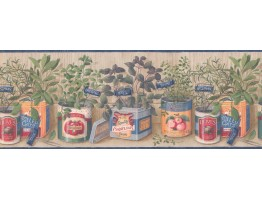 Prepasted Wallpaper Borders - Kitchen Wall Paper Border 033141 CP
