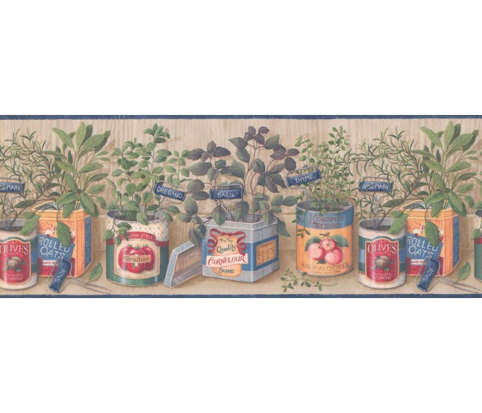 Kitchen Wallpaper Borders: Kitchen Wallpaper Border 033141 CP