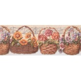 Garden Borders Floral Wallpaper Border 033173 CP York Wallcoverings
