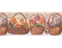 Prepasted Wallpaper Borders - Floral Wall Paper Border 033173 CP