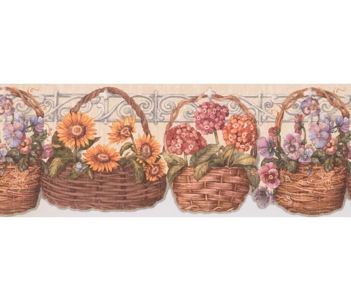 Garden Wallpaper Borders: Floral Wallpaper Border 033173 CP