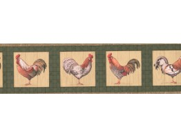 Prepasted Wallpaper Borders - Roosters Wall Paper Border 033205 CP