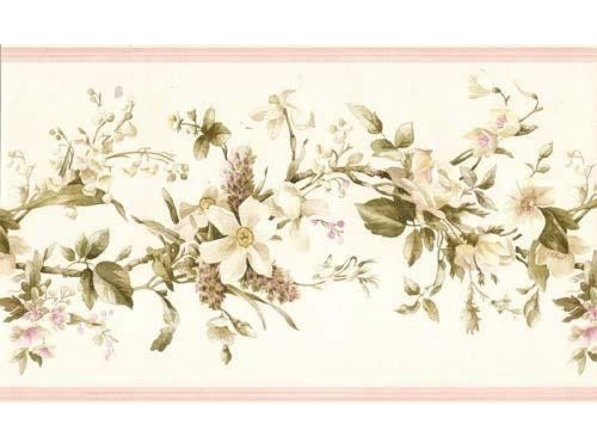 Clearance floral wallpaper border 052233 vc - Flower wallpaper border ...