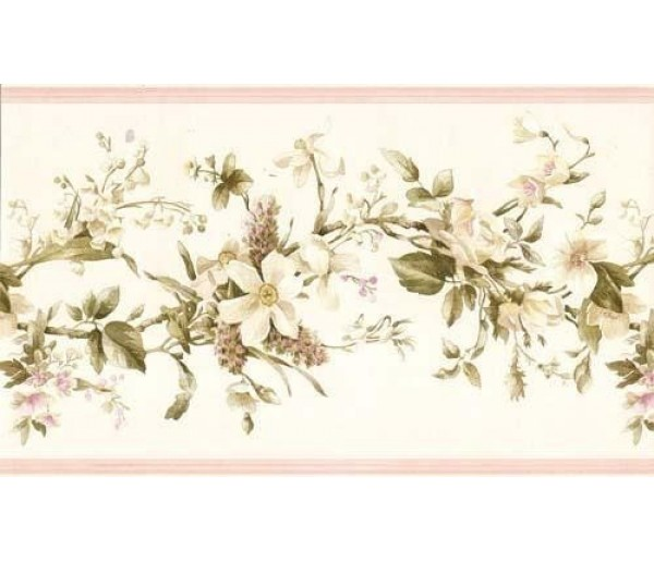 Clearance: Floral Wallpaper Border 052233 VC