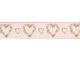 Prepasted Wallpaper Borders - Hearts Wall Paper Border 052243 VC