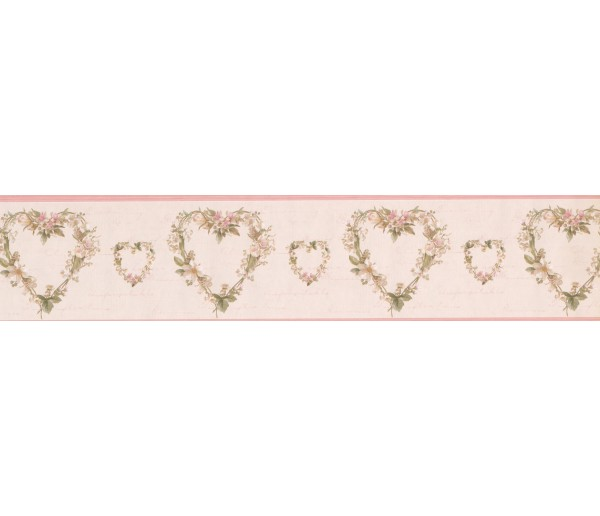 Garden Wallpaper Borders: Hearts Wallpaper Border 052243 VC
