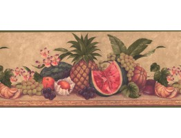 10 1/4 in x 15 ft Prepasted Wallpaper Borders - Fruits Wall Paper Border 0567 AW