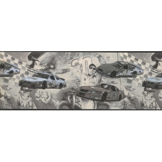 8 3/4 in x 15 ft Prepasted Wallpaper Borders - Cars Wall Paper Border 062202 CK