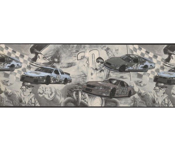 Prepasted Wallpaper Borders - Cars Wall Paper Border 062202 CK