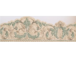 Prepasted Wallpaper Borders - Damask Wall Paper Border 065121 SK