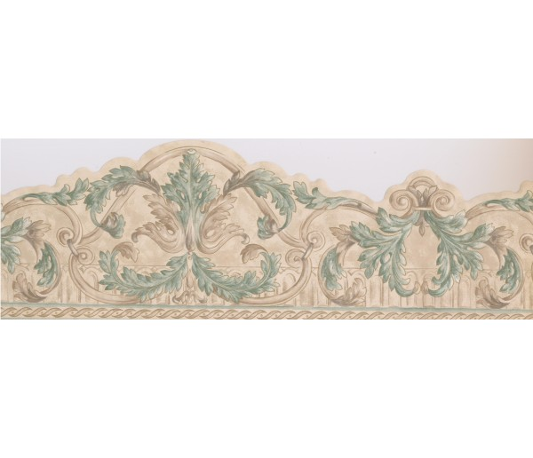 Vintage Wallpaper Borders: Damask Wallpaper Border 065121 SK