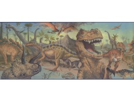 10 in x 15 ft Prepasted Wallpaper Borders - Dinosaur Wall Paper Border 075101 FP