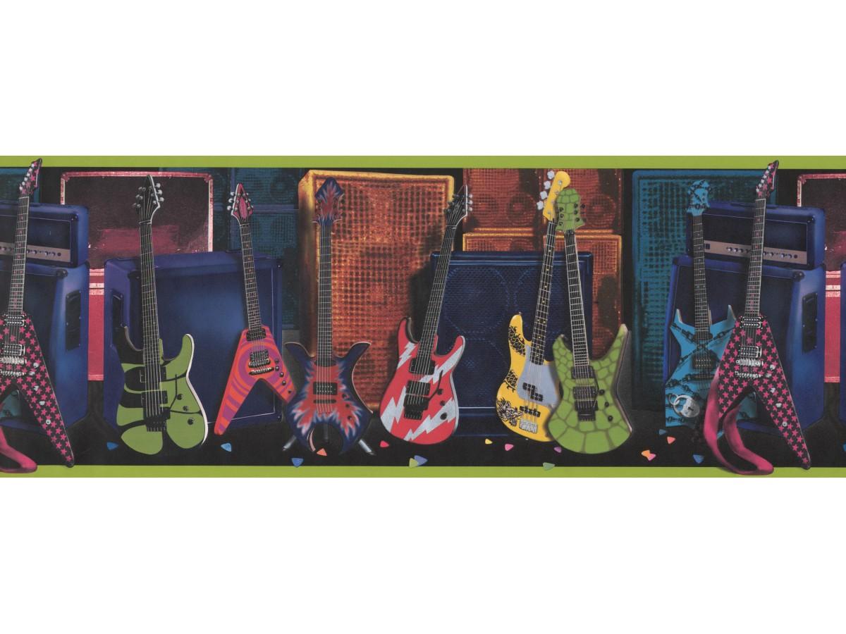 Guitar wallpaper border 075131 fb - Guitar border wallpaper ...