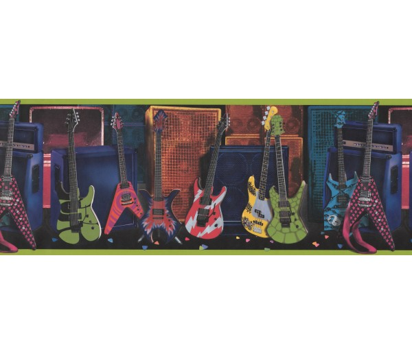 Clearance Guitar Wallpaper Border 075131 FB York Wallcoverings