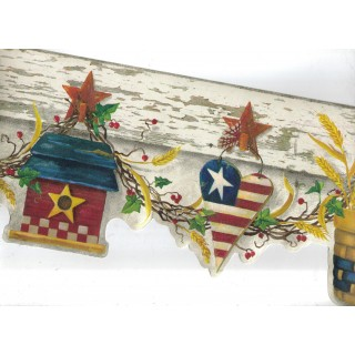 6 3/4 in x 15 ft Prepasted Wallpaper Borders - Country Wall Paper Border 08121 AAI