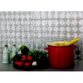 Wall Panels: Backsplash Tiles  - Decorative Thermoplastic Tile 18 X 24 Rhombus Paintable