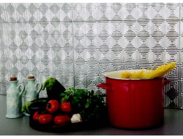 Backsplash Tiles  - Decorative Thermoplastic Tile 18 X 24 Rhombus Paintable