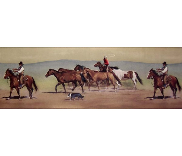 Horses Wallpaper Borders: Horses Wallpaper Border B10030601
