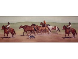 Prepasted Wallpaper Borders - Horses Wall Paper Border B10030602
