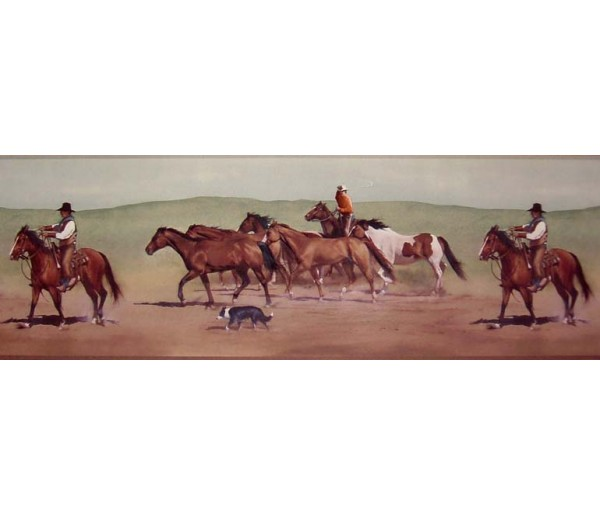 Horses Wallpaper Borders: Horses Wallpaper Border B10030602