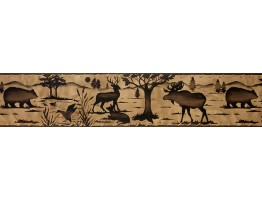 5 1/4 in x 15 ft Prepasted Wallpaper Borders - Animals Wall Paper Border B10030703