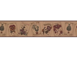 Prepasted Wallpaper Borders - Floral Wall Paper Border 100315 US