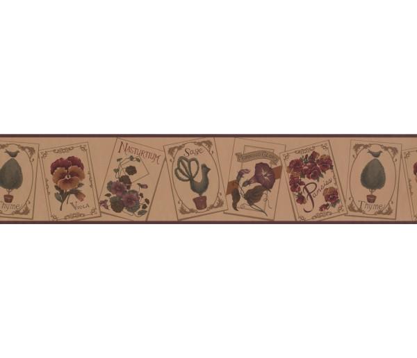 Garden Wallpaper Borders: Floral Wallpaper Border 100315 US