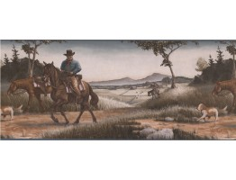 Prepasted Wallpaper Borders - Horses Wall Paper Border 101201 NT