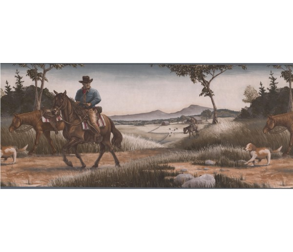 Horses Horses Wallpaper Border 101201 NT York Wallcoverings