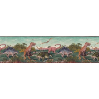 10 1/4 in x 15 ft Prepasted Wallpaper Borders - Animals Wall Paper Border B10121
