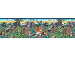 Prepasted Wallpaper Borders - Animals Wall Paper Border B10126