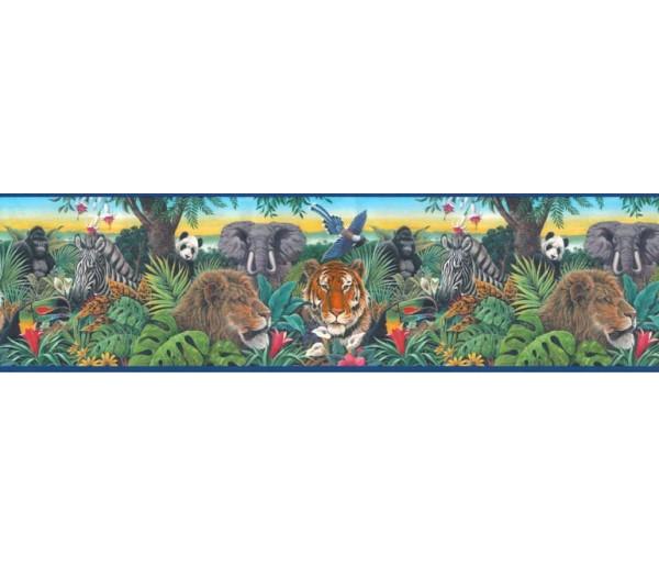 Jungle Wallpaper Borders: Animals Wallpaper Border B10126