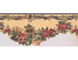 Prepasted Wallpaper Borders - Floral Wall Paper Border 102982 KB