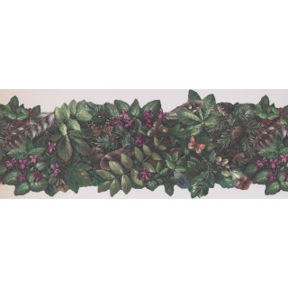 8 7/8 in x 15 ft Garden Wallpapaper Border 105474 NE